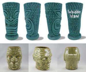 New Forbidden Island mugs from Tiki Farm: Turquoise Kapu and Tamuaki