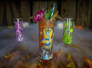 "Hidden Harbor's ""Hula-ween"" Zombie glasses designed by French artist Baï"