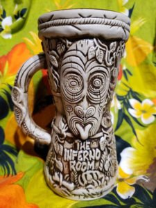 The Infermo Room Drum Mug, designed by Ken Ruzic and produced by Tiki Farm.