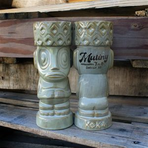 "The Koka Mug, sculpted by Dave ""Squid"" Cohen and produced by Tiki Farm for Mutiny in Detroit"