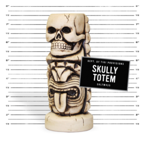 The Skully Totem mug from Three Dots and a Dash in Chicago