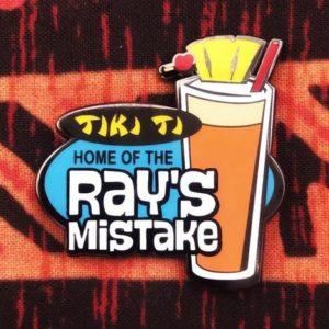 Tiki-Ti Ray's Mistake enamel pin