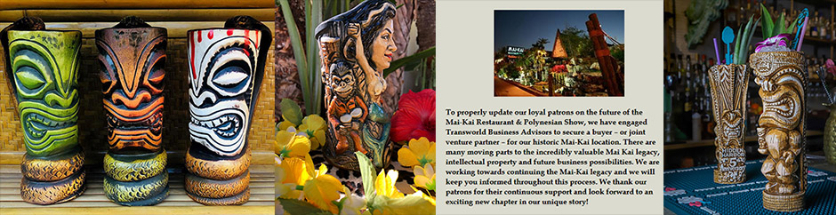 Support Tiki bars now by visiting their online stores