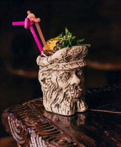 The UnderTow Shrunk Head Mug, designed by Thor and produced by Tiki Farm