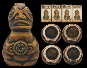 The Suito drinking gourd made by Tiki Diablo for UnderTow in 2017 was released in a special auction