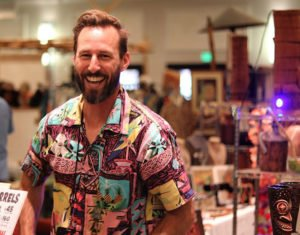 Tiki Tony in the Tiki Treasures Bazaar at The Hukilau 2019. (Photo by Robert Jiminez)