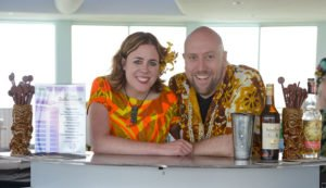 Martin and Rebecca Cate represented Smuggler's Cove in the Tiki Tower Takeover at The Hukilau 2016 at the Pier 66 hotel in Fort Lauderdale