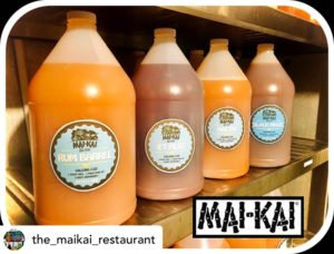 The Mai-Kai's Gallons to Go cocktail menu includes the Rum Barrel, Jet Pilot, Mai Tai and Black Magic