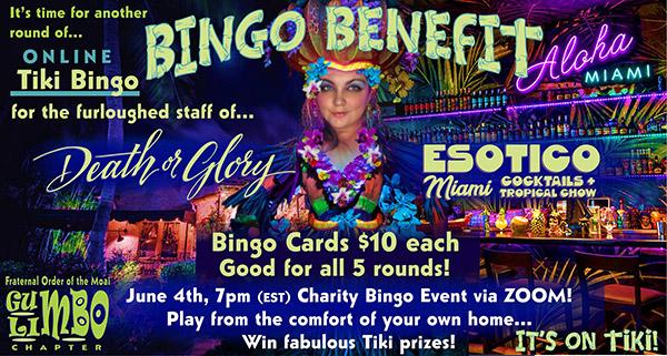 Online Tiki Bingo Benefit