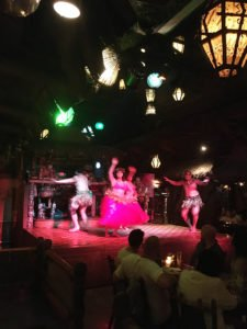 Dancers in The Mai-Kai's Polynesian Islander Revue perform for a socially distanced audience on the Fourth of July. (Photo by Hurricane Hayward)