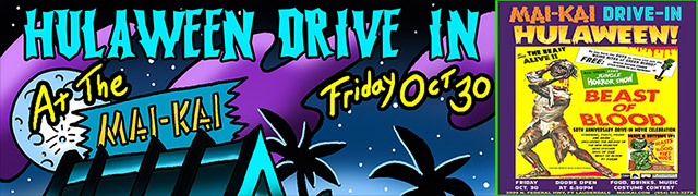 Safe and scary fun: Hulaween Drive-In Movie at The Mai-Kai on Oct. 30