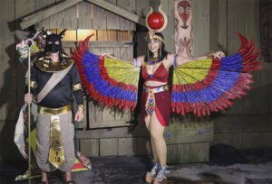 Costume contest, third place: Annubis & Isis