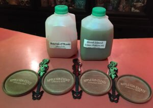 We brought home quarts of The Mai-Kai's Rum Barrel and Blood Island Green Potion #2 from Hulaween 2020. (Photo by Hurricane Hayward)