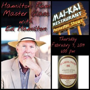 Hamilton Rum master class at The Mai-Kai