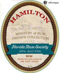 Ministry of Rum Private Collection, Florida Rum Society Blend
