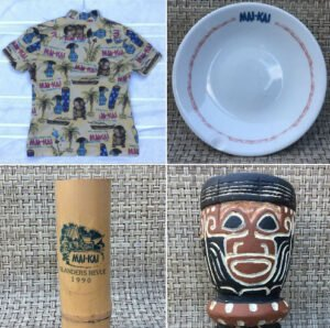 Items sold in The Mai-Kai's eBay store