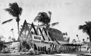 A vintage photo of The Mai-Kai when the main showroom was still open to the elements