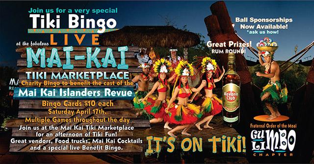 Live Tiki Bingo at The Mai-Kai Tiki Marketplace on April 17
