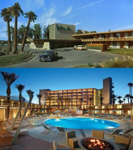 Hotel Valley Ho, yesterday and today. (From AZTikiOasis.com)