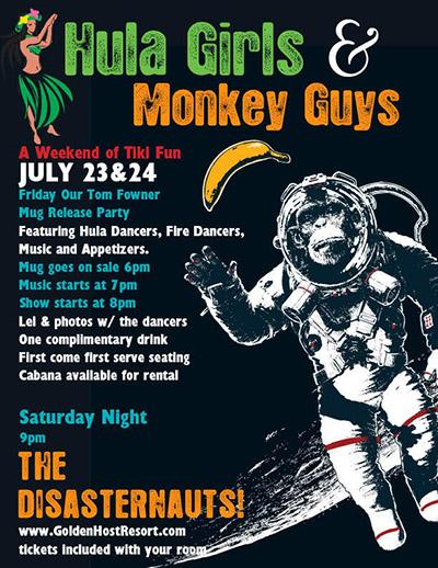 Hula Girls & Monkey Guys at Bahi Hut in Sarasota