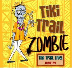 Tiki Trail Zombie artwork by The Boozy Doodler