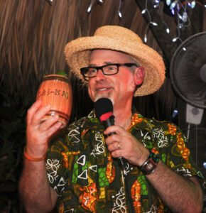 """Jeff """"Beachbum"""" Berry hosted the Master Mixologist Rum Barrel Challenge at the Bahia Cabana during The Hukilau in June 2011. (Photo by Go11Events.com)"""