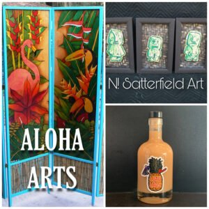 Some of the new artists and vendors appearing at The Mai-Kai Tiki Marketplace on July 18.