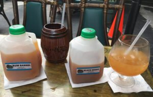 Guests can enjoy quarts of The Mai-Kai's classic cocktails at the restaurant's second Tiki Marketplace on July 18. (Photo by Hurricane Hayward)