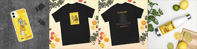 Tiki Trail Zombie merchandise / artwork by The Boozy Doodler