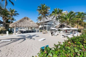 The Beachcomber Resort & Club has a secluded oceanfront space on Pompano Beach.