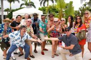 Villagers enjoy The Hukilau's Rum Island Pool Party in June 2019 at the Pier Sixty-Six Hotel & Marina in Fort Lauderdale. (Photo by Heather McKean)