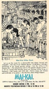 A vintage Molokai bar ad by artist Al Kocab. (From the collection of Larry Hines)