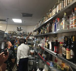 The Ma-Kai's historic rum collection, a popular attraction for visiting VIPs and tours, is tucked away in the hidden service bar behind the kitchen. (Photo by Hurricane Hayward, June 2019)