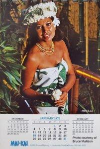 Mireille Thornton appears in a vintage Mai-Kai calendar.