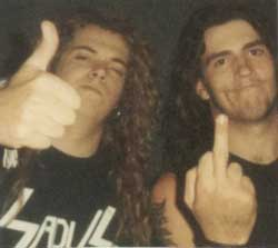 Igor Cavalera of Sepultura and JC Dwyer of Raped Ape